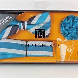 Other - Men's New Bow Tie & Pocket Square & Lapel Pen Silk